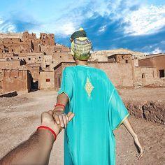 Ait Benhaddou in Morocco (the photo series by Russian Photographer, Murad Osmann) Murad Osmann, Romantic Series, Cool Photos, Beautiful Pictures, Fairytale Fashion, Walk This Way, Photo Series, Tour Eiffel, Us Travel