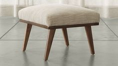 Cavett Ottoman | Crate and Barrel
