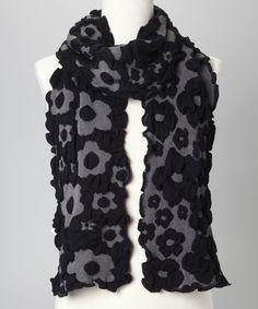 Black   Gray Floral Scarf Tissus, Foulards, Meuf Hippie, Écharpe À Fleurs, 18fa82fdaa2