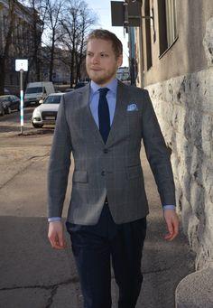 Semi casual combination! by Räätälistudio #räätälistudiobq #helsinki #tampere #suomi #puku #suit #puvut