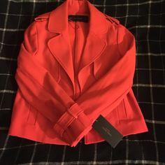 Red blazer Xs red fitted blazer :great with jeans Zara Jackets & Coats Blazers