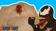 Blue Spiderman & Spiderman vs Venom  Bath Time FUN! and Venom vs Carnage...