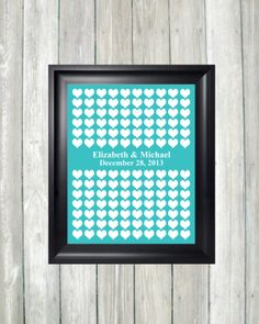 """Wedding Guestbook Art Print 16"""" x 20"""" Wedding Guest Book Alternative Poster Wedding Guestbook Up to 130 Guest Signatures Print, 125 Guests by Caldson Designs, $38.00"""