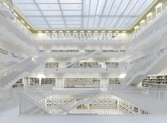 Image 1 of 11 from gallery of Stuttgart City Library / Yi Architects. Photograph by Stefan Müller