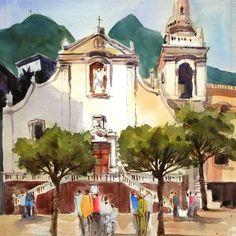 Home - RUSSELL BLACK - WATERCOLORS Watercolors, Watercolor Paintings, Taj Mahal, Buildings, Homes, Architecture, Gallery, Black, Arquitetura