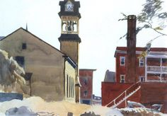 Edward Hopper (1882 — 1967, USA) Gloucester Houses.1923-1924 watercolor on paper. Whitney Museum of American Art