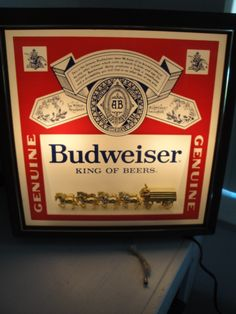 Vintage budweiser clydesdale parade carousel beer light motion georgeous vintage budweiser bar light lights up with just a pull gold clydesdale horse mozeypictures Images