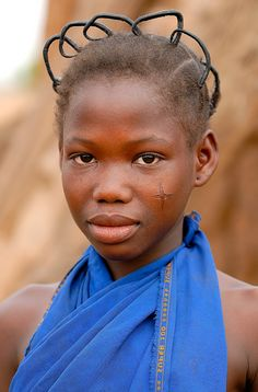 Africa | 'The Cross'. Portrait of a Fulani/Peul girl. Burkina Faso | © Sergio Pessolano