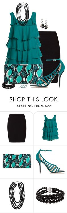 """""""Emerge Tiered Top"""" by amy-phelps ❤ liked on Polyvore featuring OPUS Fashion, Milly, Jimmy Choo, MGEMS and Pearlz Ocean"""