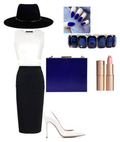 """""""Classy Look"""" by mirela-mg-ghita on Polyvore featuring Charlotte Tilbury, Monet, Zimmermann, Niclaire, Rick Owens, BCBGMAXAZRIA and Gianvito Rossi"""