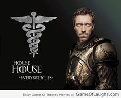 Doctor, Dr. House, House, Game of Thrones Meme Parody Everybody Lies, Crossover, funny