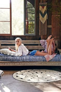 Magical Thinking Rohini Daybed Sofa Couple of stained two by fours, and I could make this Grand Designs, Reema Floor Cushion, Dressing Design, Boho Deco, Magical Thinking, Boho Home, Comfy Sofa, Camper Makeover, Floor Cushions