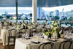 Real Wedding – Sonia & Michael - City Views - Tablescape - Glamorous Styling - Rooftop Reception - GOMA, Brisbane, Australia