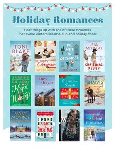 Holiday Romance Books Book Suggestions, What To Read, Romance Books, Books To Read, Cheer, Let It Be, Reading, Holiday, Fun