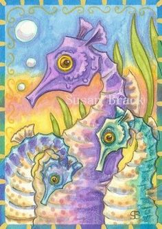 Art: SEAHORSE SUNSET by Artist Susan Brack