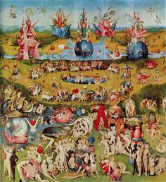 El jardín de las delicias - El Bosco plano general es un triptico que habla sobre la creación del hombre al juicio final fabuloso cuadro