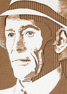 13 Whoa-tastic Cardboard Portraits Of Historic Personalities