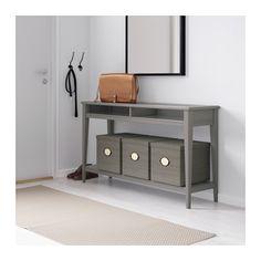 LIATORP Sivupöytä - harmaa/lasi - IKEA