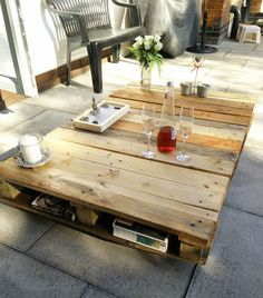 Large Handmade Pallet Wood Coffee Table Rustic Shabby Chic Furniture
