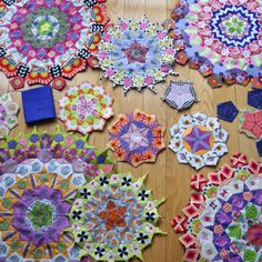 Varying Fabric Colors for a La Passacaglia Quilt