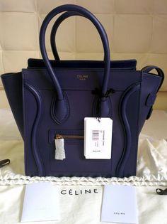 ae843537dda4 celine micro luggage navy smooth - Google Search  Designerhandbags. Taschen  Designer Handbags
