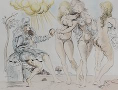 'Judgment of Paris', 1950, Salvador Dalí