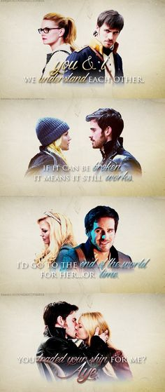 Emma Swan and Captain Hook - Once Upon a Time