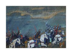 Sergei Vasilyevich Malyutin - Army of Tsar Dodon - Giclee Baskı - AllPosters.com.tr'de.