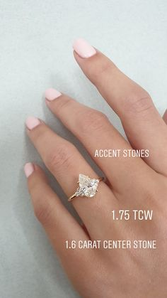 A beautiful pear shaped diamond engagement ring. Accent stones add to its beauty. See link for more details. Currently offering off. Sale ends soon so don't miss out! Pear Shaped Diamond Ring, Pear Diamond Rings, Pear Shaped Engagement Rings, Unique Diamond Engagement Rings, Engagement Ring Shapes, Princess Cut Engagement Rings, Beautiful Engagement Rings, Unique Rings, Pear Shaped Rings