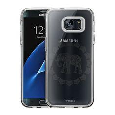 Samsung Galaxy S7 Edge Black Lace Elephant Case