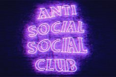anti social social club discovered by moon on We Heart It Dark Purple Aesthetic, Violet Aesthetic, Lavender Aesthetic, Aesthetic Colors, Aesthetic Collage, Aesthetic Pictures, Purple Wall Art, Purple Walls, Neon Purple