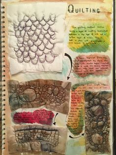 New Ideas For Nature Texture Inspiration Textiles Sketchbook Layout, Gcse Art Sketchbook, Sketchbook Inspiration, A Level Textiles Sketchbook, Sketchbook Ideas, Textile Texture, Art Textile, Texture Art, Textile Design