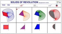 GEOGEBRA  FOR ALL: Solids of revolution (3D with Geogebra4.25 in html5)