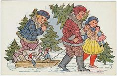 Comprando el árbol de Navidad