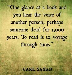 Books are Time travel.
