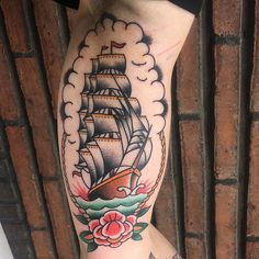 Sailing into the week traditional style, thanks Liane .... tattoo by @sebastiaanwilms
