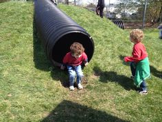 ACUA Playground tube slides