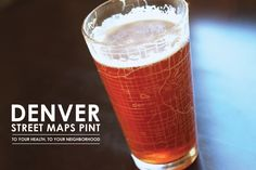 Denver Map Pint Glass from theuncommongreen