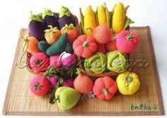 Crocheted Vegetables by Olga of OlinoHobby