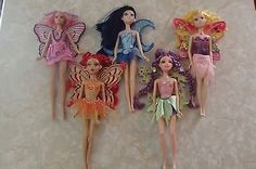 Barbie Fairytopia Dolls Magic of Rainbow Mariposa Glee Sunburst Moon Star LOT