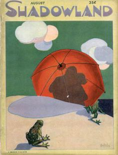 Shadowland magazine cover August A. Look Magazine, Magazine Art, Magazine Covers, Magazine Illustration, Illustration Art, Vintage Illustrations, Art Deco Posters, Vintage Posters, Catalog Cover