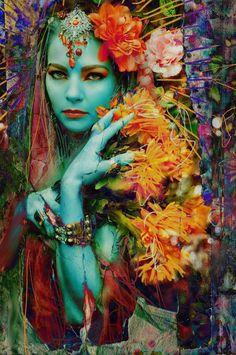 Bohemian flowergirl