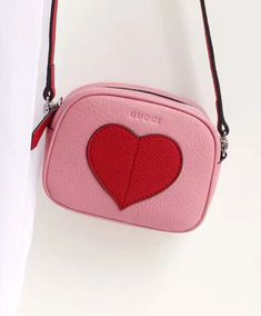 8012c4f73ef Gucci Children s Leather Heart Messenger 457223