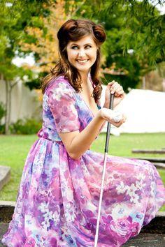 50's Inspired Chiffon Wrap Dress by TamtrumClothing on Etsy, £17.78