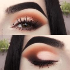 Best Makeup Ideas For Perfect Date Makeup Styles And 25 Gorgeous Eye Makeup Tut. Makeup Eye Looks, Cute Makeup, Eyeshadow Looks, Skin Makeup, Eyeshadow Makeup, Beauty Makeup, Simple Makeup, Eye Makeup Cut Crease, Glitter Makeup