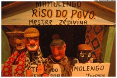 Museum of Mamulengo antique puppets and stage in Olinda, Brazil.