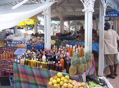 Farmer's Market in Marigot - French St Martin