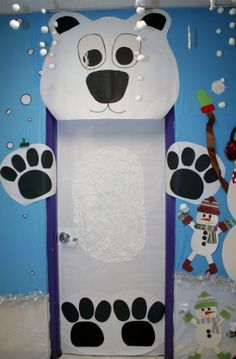 polar bear classroom door - Google Search