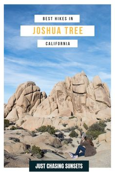 The best thing to do in Joshua Tree National Park is go hiking! These 3 hikes in Joshua Tree are perfect for a day hike to see the rock formations and other unique features of this desert landscape. Check out this guide for the most beautiful hikes in Joshua Tree National Park. California Travel Guide, California Destinations, Beautiful Places To Visit, Cool Places To Visit, Joshua Tree National Park, National Parks, Travel For A Year, Desert Landscape, Go Hiking