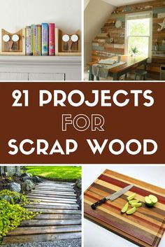Don't toss all that scrap wood left over from your last DIY adventure! Put it to good use building one of these fun and functional projects for your home.